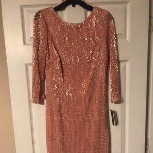Rose colored sequin dress